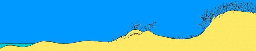 Tekening van duinvorming -3