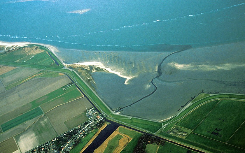 Aerial photo of the wadden near de Cocksdorp (photo: Foto Fitis)