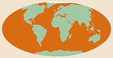 Kaart van de verspreiding van potvissen