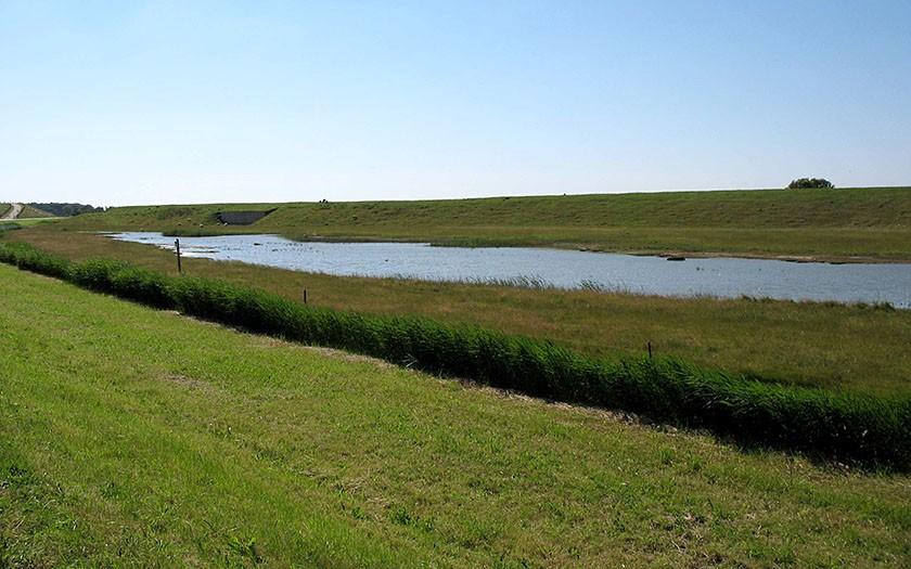 Brakwatergebied Minkewaal op Texel
