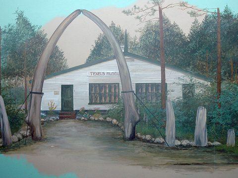 texels museum, situatie rond 1960, tekening van Johan Reydon