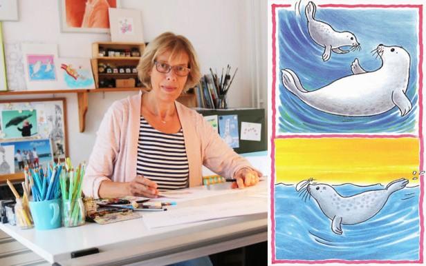 Monica Maas aan het werk