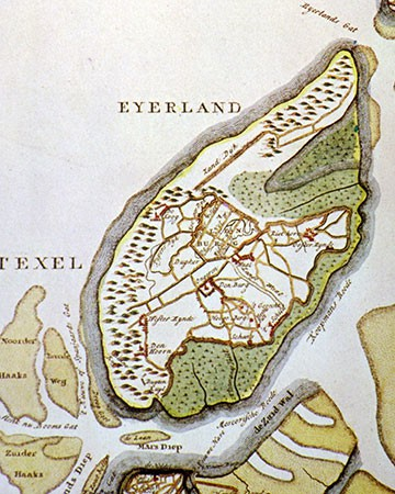 Map of Texel around 1700