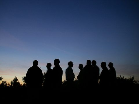 Mensen in het donker