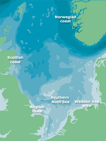 Map of the North Sea