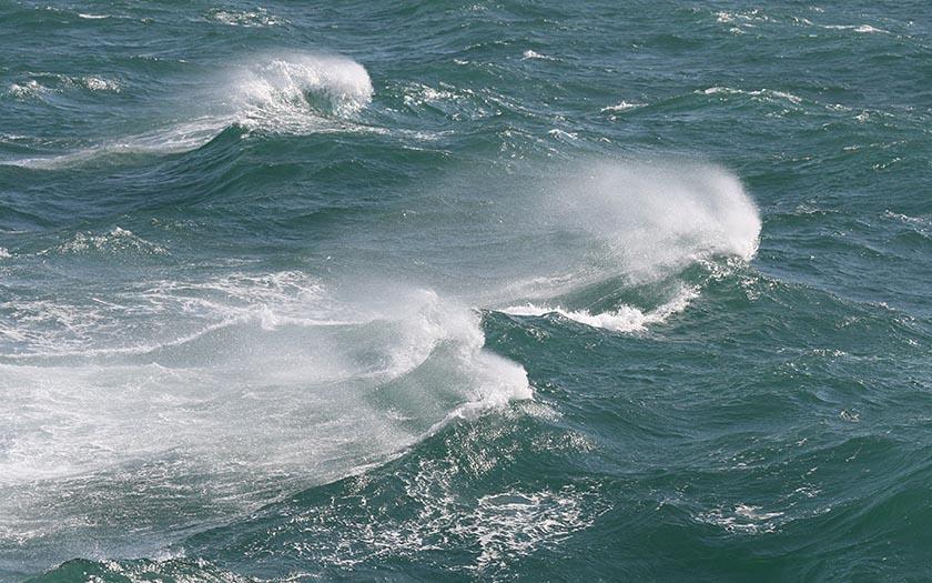 Golven op de Noordzee